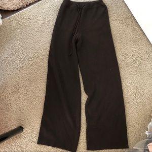 Handmade knit pants in brown